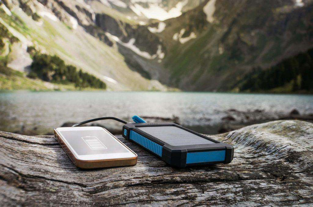 Charge smart phone from the solar battery.