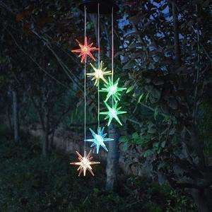 Anasu Outdoor Solar Lights and Sea Urchin Wind Chimes