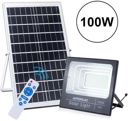 APONOU Solar Powered Floodlights