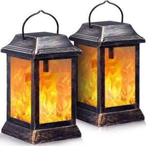TomCare Flickering Flame Solar Lantern