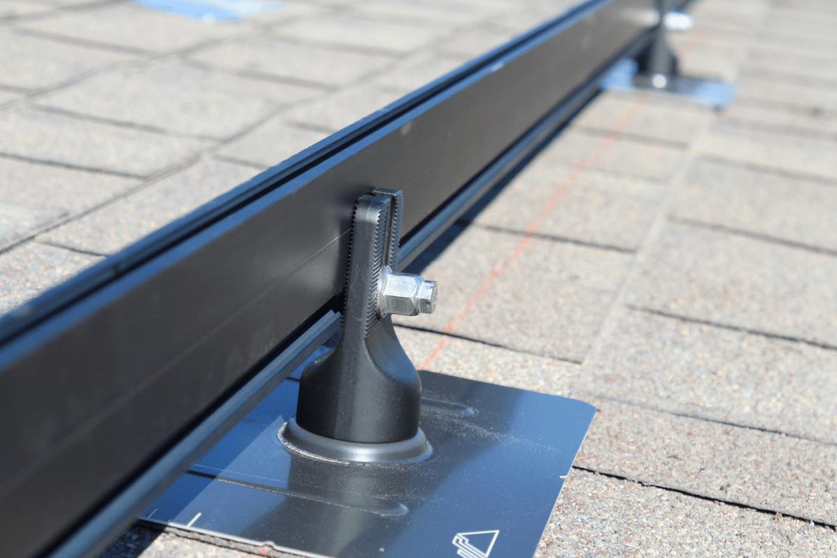 solar panel roof rack