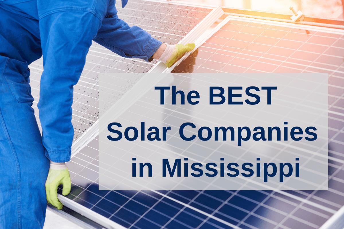 best solar companies MS